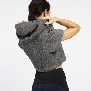 Michi Cayman Crop Hoodie in Grey